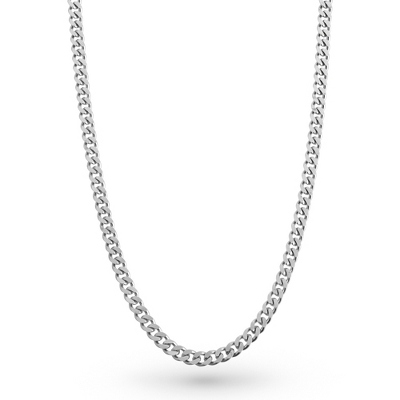 Men's Curb Chain Necklace with complimentary Tri Tone Valet Box - UPC 825008280366