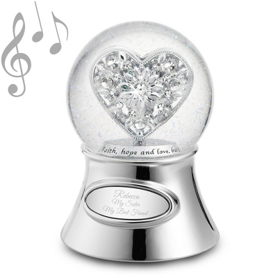Jeweled Heart Water Globe