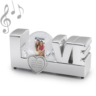 Musical Love Photo Snow Globe