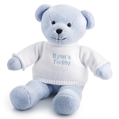 Blue Plush Teddy - $20.00
