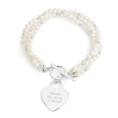 Triple Strand Freshwater Pearl Bracelet with complimentary Filigree Keepsake Box