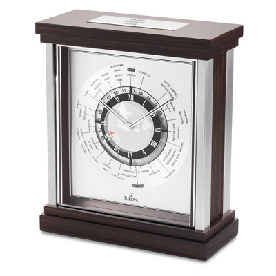 Bulova Wyndmere Clock - UPC 42429494572
