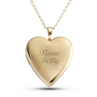 Gold over Sterling Heart Locket with complimentary Filigree Keepsake Box - Sterling Silver Necklaces