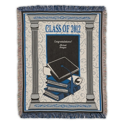Blue 2012 Graduation Throw
