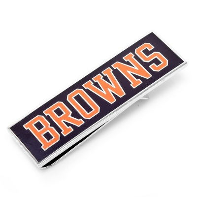 Cleveland Browns Money Clip with complimentary Weave Texture Valet Box