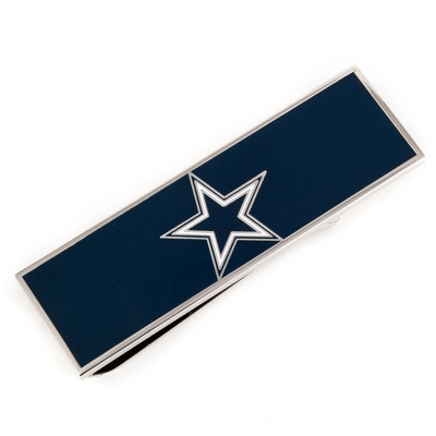 Dallas Cowboys Money Clip with complimentary Weave Texture Valet Box - Men's Accessories