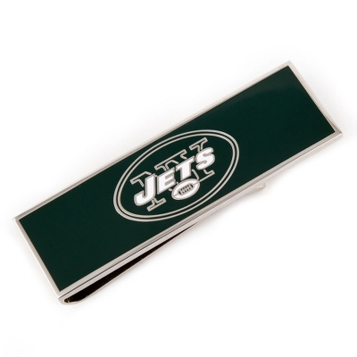 New York Jets Money Clip with complimentary Weave Texture Valet Box