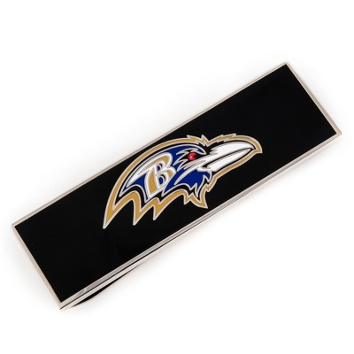 Baltimore Ravens Money Clip with complimentary Weave Texture Valet Box - Men's Accessories