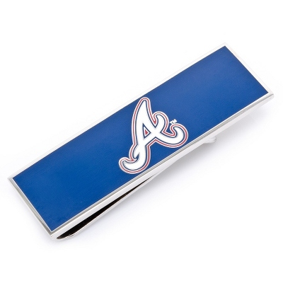Atlanta Braves Money Clip with complimentary Weave Texture Valet Box