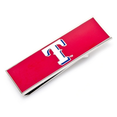Texas Rangers Money Clip with complimentary Weave Texture Valet Box - Men's Accessories