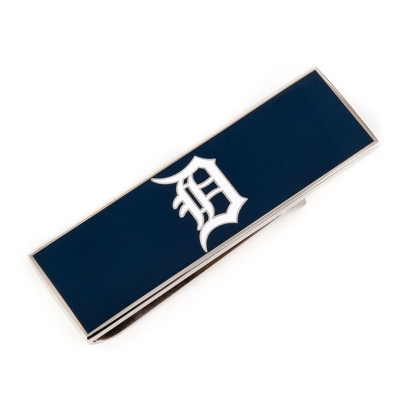 Detroit Tigers Money Clip with complimentary Weave Texture Valet Box - Men's Accessories
