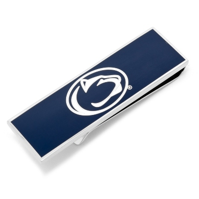 Penn State University Money Clip with complimentary Weave Texture Valet Box