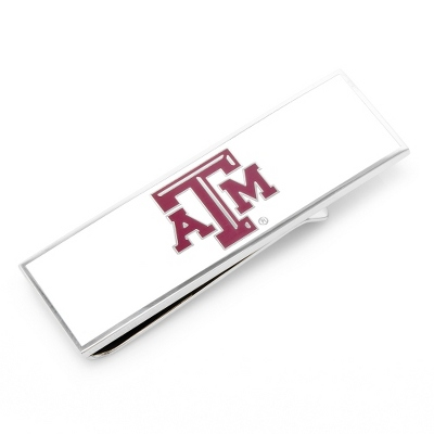 Texas A&M University Money Clip with complimentary Weave Texture Valet Box - Men's Accessories