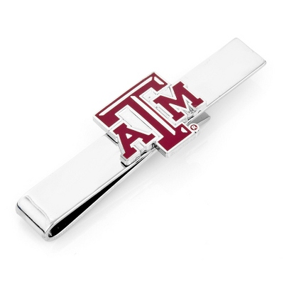Texas A&M University Tie Bar with complimentary Weave Texture Valet Box