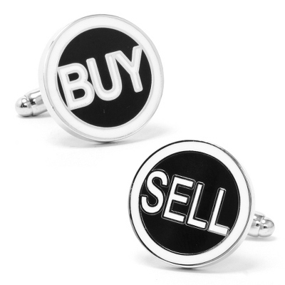 Buy & Sell Cuff Links with complimentary Weave Texture Valet Box - $50.00