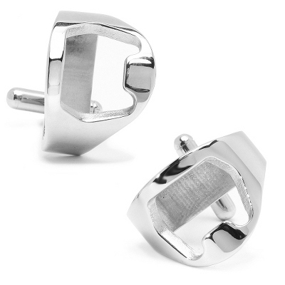 Bottle Opener Cuff Links with complimentary Weave Texture Valet Box - UPC 825008285651