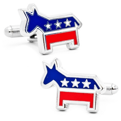 Democratic Donkey Cuff Links with complimentary Weave Texture Valet Box