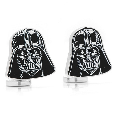 Darth Vader Cuff Links with complimentary Weave Texture Valet Box - Men's Jewelry