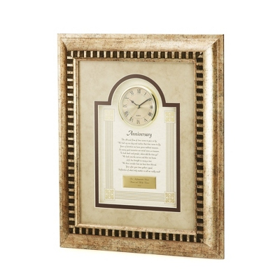 Personalized Anniversary Clocks