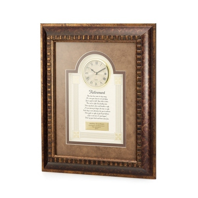 Retirement Frame Clock - $90.00