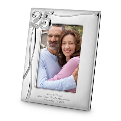 25th Anniversary Frame - 25th & 50th Anniversary Gifts