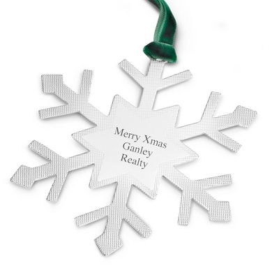 2012 Classic Snowflake Flat Ornament