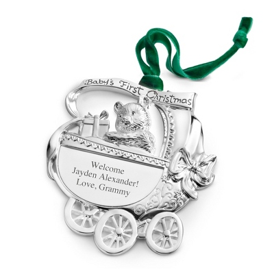 Baby's First Christmas Ornament - UPC 825008286610