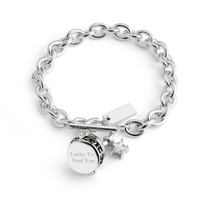 Compass Bracelet with complimentary Filigree Heart Box