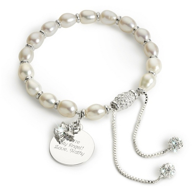 Pave Angel Bracelet with complimentary Filigree Keepsake Box