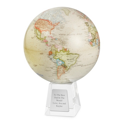 Large Antique Beige MOVA Globe - Awards & Plaques