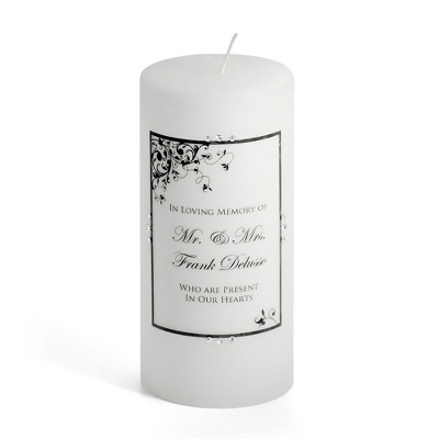 Personalized Memorial Candles for a Wedding