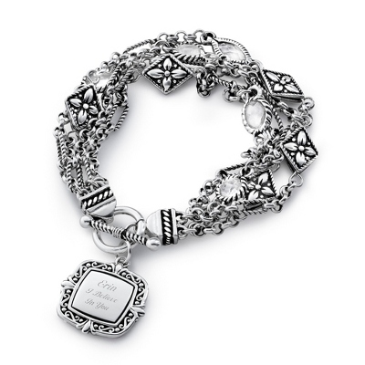 Expressions Multi-Chain Bracelet with complimentary Filigree Oval Box