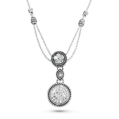 Expressions Circle Necklace with complimentary Filigree Oval Box - $19.99