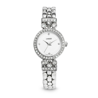 Crystal Round Watch with complimentary Filigree Heart Box - Women's Watches