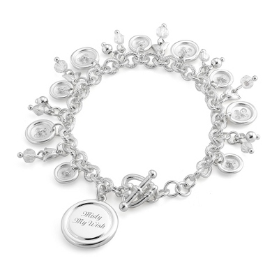 Button Bracelet with complimentary Classic Beveled Edge Round Keepsake Box - Clearance Items for Her