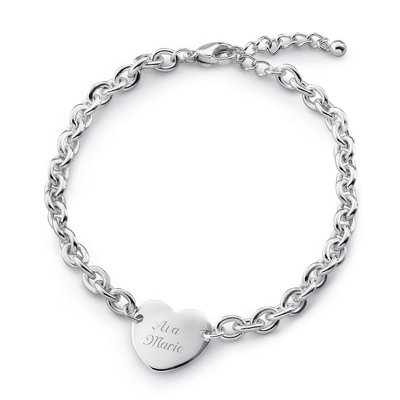 Girls Heart Bracelet with complimentary Filigree Heart Box