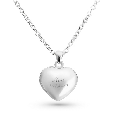 Girls Heart Locket with complimentary Filigree Heart Box