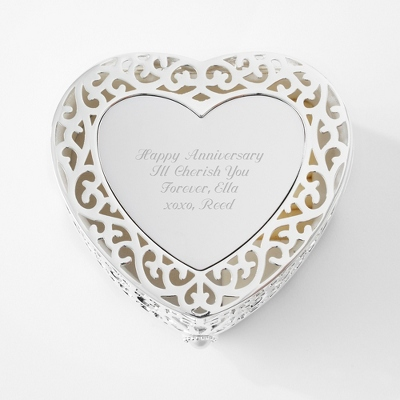 Filigree Heart Box - $10.00