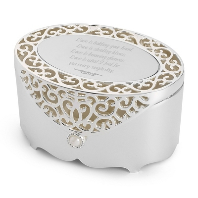 Filigree Oval Box - Jewelry & Keepsake Boxes