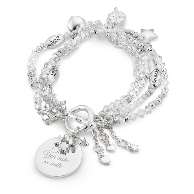 "Crystal ""I Wish You"" Bracelet with complimentary Filigree Keepsake Box"