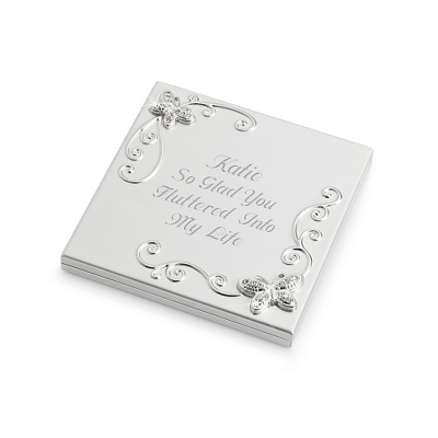 Pave Butterfly Compact