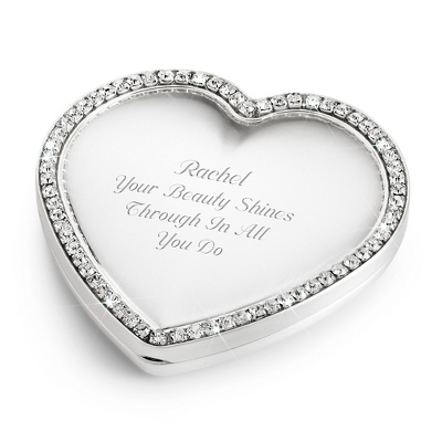 Bling Heart Compact - Purse Accessories