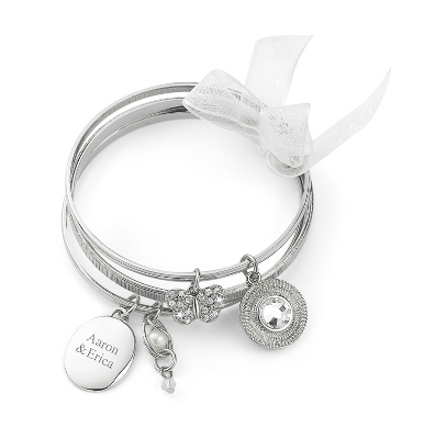 Butterfly Bangle Set with complimentary Filigree Oval Box - $19.99