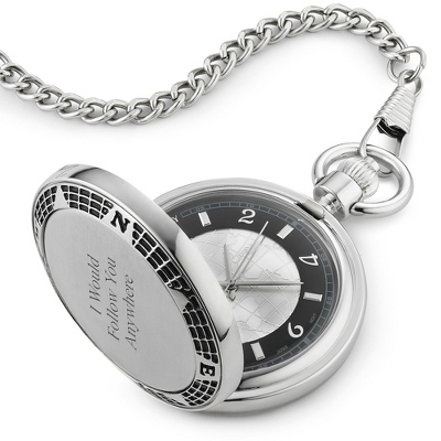 Black Groomsmen Pocket Watch