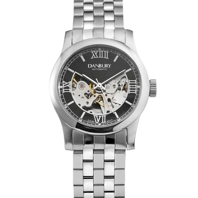 Black Dial Skeleton Wrist Watch