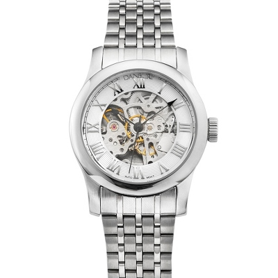 White Dial Skeleton Wrist Watch - UPC 825008287945