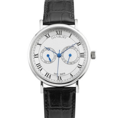 Two Eye Silver Dial Wrist Watch