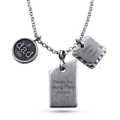 Dad Personalized Pendant Necklace