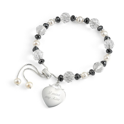 Hematite Lariat Bracelet with complimentary Filigree Keepsake Box