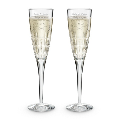 Wedding Toasting Glasses with Crystals